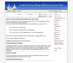 Alumni site for the California San Diego LDS Mission.