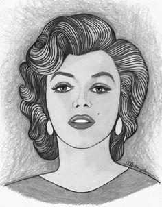 Marilyn Monroe by aaronmark | This image first pinned to Marilyn Monroe Art board, here: http://pinterest.com/fairbanksgrafix/marilyn-monroe-art/ || #Art #MarilynMonroe