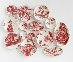 Molly Hatch Hand-Painted Porcelain Plates Chinoiserie - Todd Merrill