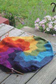 pinwheel knitting, this is beautiful