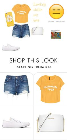 """Untitled #148"" by noelani-143 ❤ liked on Polyvore featuring Topshop, Converse, Michael Kors and Kate Spade"