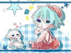 Neko Kawaii, Loli Kawaii, Anime Neko, Anime Art, Tracing Art, Chibi Boy, Blue Anime, Chibi Characters, Anime Life