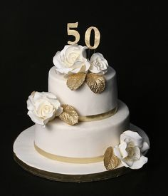 Elegant Gold 50th Wedding Anniversary Party Custom Announcement From