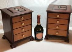 Load image into Gallery viewer, Pair of Miniature Mahogany Chest of Drawers Wood Drawers, Chest Of Drawers, Drawer Dividers, Wine Rack, Miniatures, Antiques, Storage, Cuban, Furniture