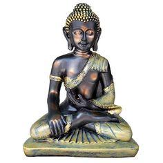 Figura de Buda Sentado de Resina