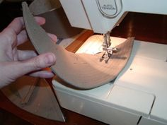 sewing visor lines