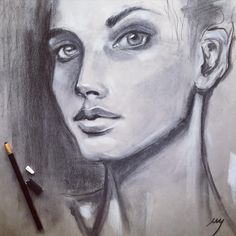 More charcoal portrait studies today as I prepare to teach in the Let's Face It portrait class! I'll be teaching how to do a 3/4 face. So excited! Registration is open. Link in profile. ✨