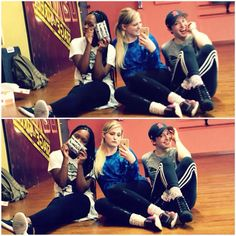 Charm, Meghan and Kelsey in dance class #WeLoveYouMeghan