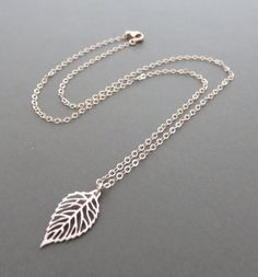 Rose Gold Leaf Necklace, rose gold necklace, open leaf, nature jewelry, leaf jewelry, marciahdesigns, mhd, rose gold jewelry, filigree