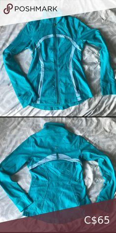 Shop Women's lululemon athletica Blue size S Jackets & Coats at a discounted price at Poshmark. Lululemon Athletica, Jackets For Women, Product Description, Leather Jacket, Best Deals, Blue, Coats, Things To Sell, Style
