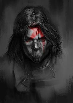 Winter Soldier,Bucky by hewdel