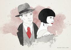 Miss Fisher's Murder Mysteries fanart - Jack and Phryne