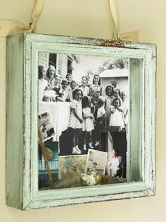 Shadow box - must do! I can break out those old b & w family photos and make groupings of the families.