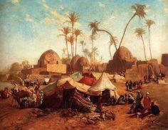Karl Wilhelm Gentz (German, 1822-1890)  –  Bedouincamp