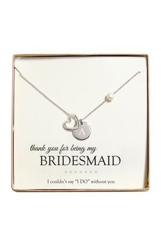 Personalized Open Heart Charm Necklace Style N9103S