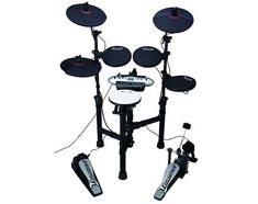 cheap electronic drum sets of terrific quality. Latest USB And MIDI digital drum sets with reasonably priced tags and astounding sound module. Digital Drums, How To Play Drums, Drum Kits, Play To Learn, Compact, Mickey Mouse, Electronics, Note, Amazon