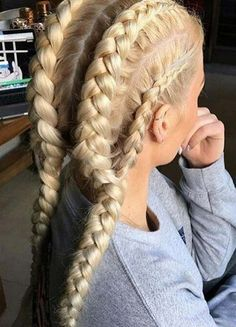 This is so cool it's like the double braid hairstyle but with another braid on the side