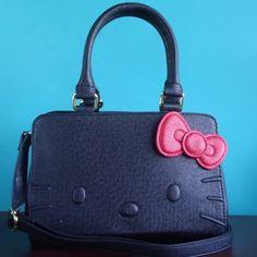 Hello Kitty Chic Black Handbag New Loungefly x Hello Kitty handbag Sanrio Bags Shoulder Bags