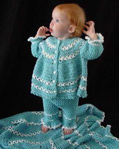 Blueberry Baby Layette Crochet Pattern