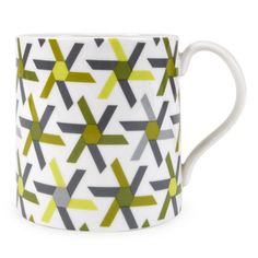 Jonathan Adler Pinwheel mug green