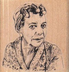 New to pinkflamingo61 on Etsy: Rubber stamp Crazy lady in curlers    scrapbooking supplies number 4209  Hilda Alice Ogden Crabtree (5.70 USD)