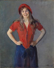 Oda Krogh, by painter and husband Christian Krohg - Wikipedia
