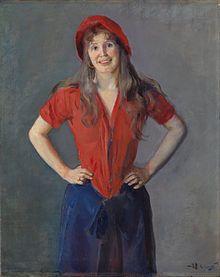 Oda Krohg as Bohemian Princess, painted by husband Christian Krohg in 1886