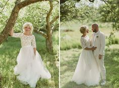 Sweden Apple Orchard Wedding: Therese + Oskar-Ture || Tulle see-through skirt with mini skirt underneath!