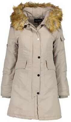 Dove Faux-Fur Hooded Parka. Parka coat fashions. I'm an affiliate marketer. When you click on a link or buy from the retailer, I earn a commission.