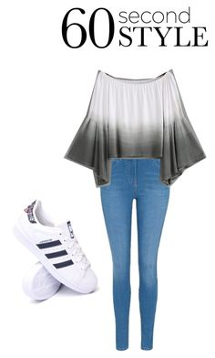 """""""60 seconds"""" by modelme2 ❤ liked on Polyvore featuring George, adidas, ombre and 60secondstyle"""