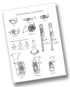 Families of the Orchestra: printable pages for each instrument family + good descriptions of musical instruments Preschool Music, Music Activities, Teaching Music, Music Games, Art Music, Instrumental, Music Classroom, Classroom Resources, Learning Resources
