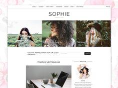 WordPress Theme, Responsive - Sophie by Georgia Lou Studios on @creativemarket