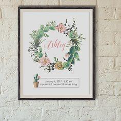 Baby name wall art name sign for nursery room decor