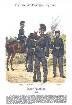 Band XVII #6.- Schaumburg-Lippe. Jäger-Bataillon 1866.
