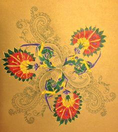 Turkish carnation meets Indian paisley. Motif by Melis Gokturk