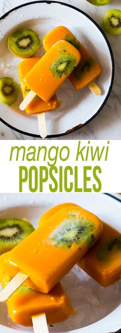 Mango Kiwi Popsicles - Eazy Peazy Mealz