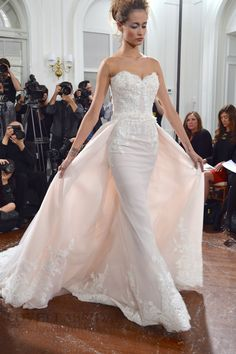 """This dress is gorgeous!! I usually  don't like the """"wings/flaps""""  but I love this!! Sposa Ines di Santo Fall 2015"""