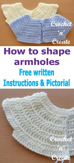 how to shape armholes
