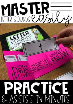 Letter Sounds Folder System for Practicing and Assessing Letter Sounds Teaching letter sounds in Kindergarten is so much easier with these Letter Sound Folders. Your students can use these folders while learning Teaching Letter Sounds, Teaching Letters, Teaching Phonics, Teaching Reading, Guided Reading, Teaching Letter Recognition, Jolly Phonics, Early Reading, Teaching Ideas