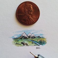 18 miniature illustrations by Sam Larson A tiny book of tiny animals Sam Larson, Illustrations, Illustration Art, Creators Project, West Art, Nature Drawing, Animation, Instagram Blog, Small Art