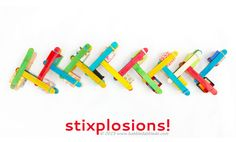 STEAM Activity: Make Stixplosions and learn about chain reactions!