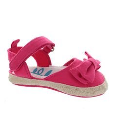 Another great find on #zulily! Fuchsia Bow Espadrille Sandal #zulilyfinds