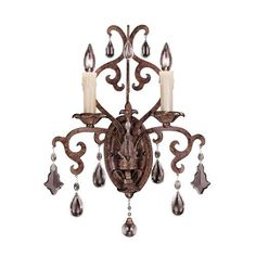 New Tortoise Shell Two Light Sconce Savoy House 2 Light Armed Candle Wall Sconces Wall Lig