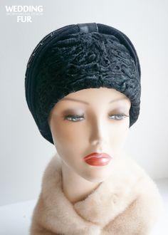 Меховые женские головные уборы из каракуля