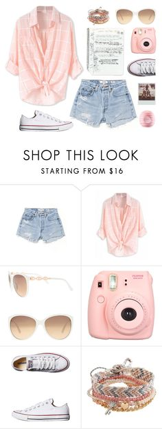 """""""venice beach"""" by m-huber ❤ liked on Polyvore featuring RE/DONE, Lane Bryant, Polaroid, Converse, Aéropostale, Eos, Summer and ootd"""