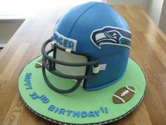 Seahawks helmet.  I was just informed that I am to make this for Doble's 5th Birthday.
