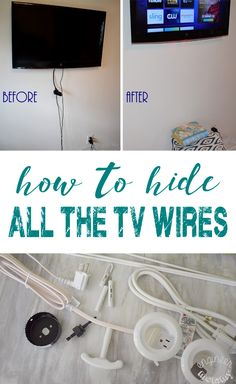 Hanging a Flat Screen on Wall: How to Hide All Wires – Engineer Mommy Tired of seeing those TV wires? Check out this simple solution to get those wires hidden inside the wall! Hiding Tv Cords On Wall, Hide Tv Wires, Hiding Cables, Hiding Wires Mounted Tv, Hide Cables On Wall, Hide Electrical Cords, Hide Cable Cords, Hide Cable Box, Kit Homes