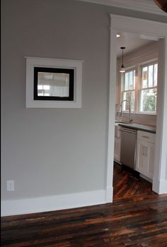 Wall color. Repose gray. Open kitchen to dining to living room