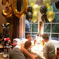 Wayne celebrated his milestone age with his two sons Kai and Klay [BBC]