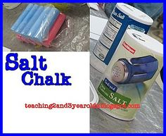 Teaching 2 and 3 Year Olds: Salt Chalk